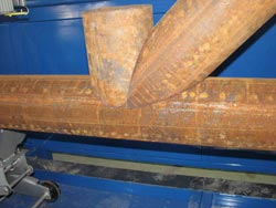 Sample of the cut joint by plasma cutting